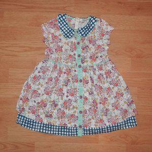 Matilda Jane Size 2 Floral Boho Button Down Dress